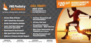FNQ podiatry discount flyer